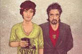 Иллюстрации знаменитостей в молодости и годы спустя
