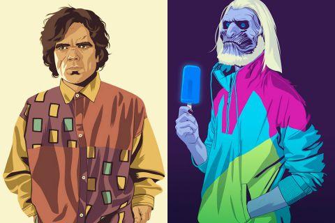 Герои сериала «Игра престолов» в стиле персонажей из видеоигры GTA