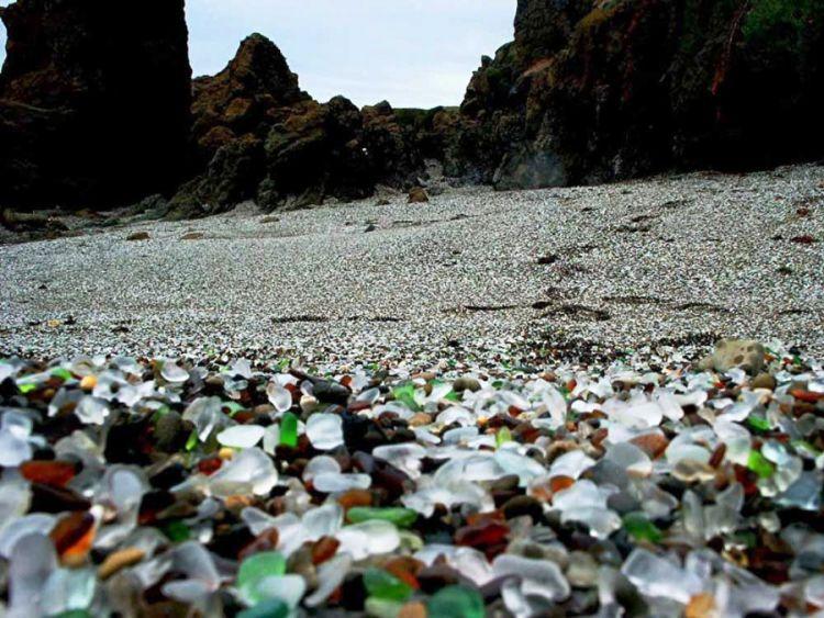 Стеклянный пляж в Калифорнии — Фото №15