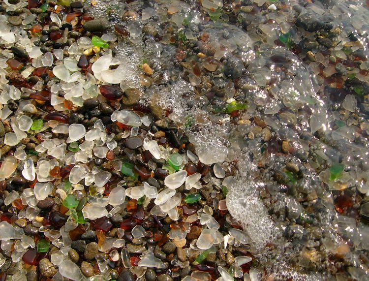 Стеклянный пляж в Калифорнии — Фото №19