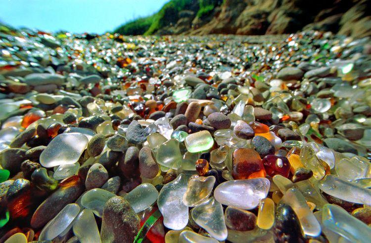 Стеклянный пляж в Калифорнии — Фото №2