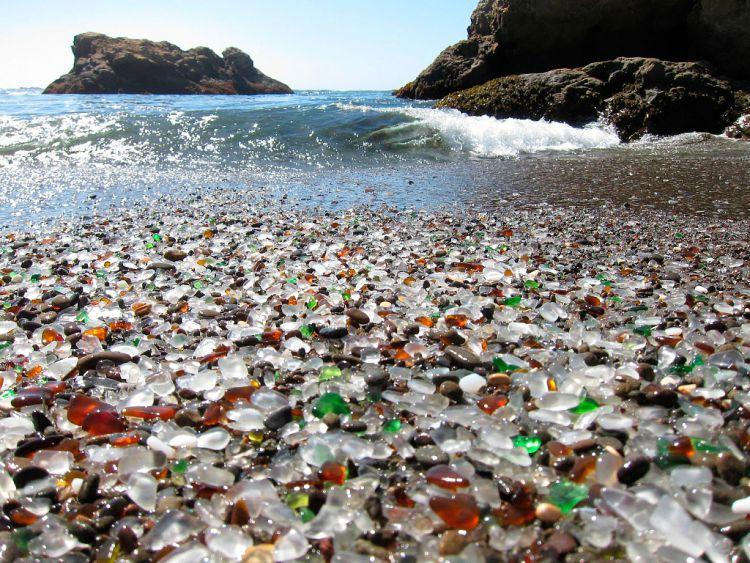 Стеклянный пляж в Калифорнии — Фото №21