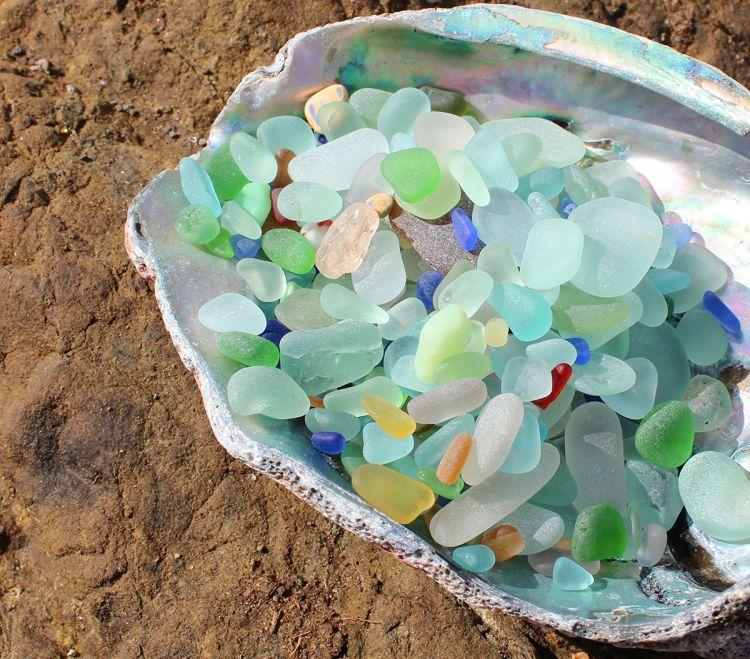 Стеклянный пляж в Калифорнии — Фото №29