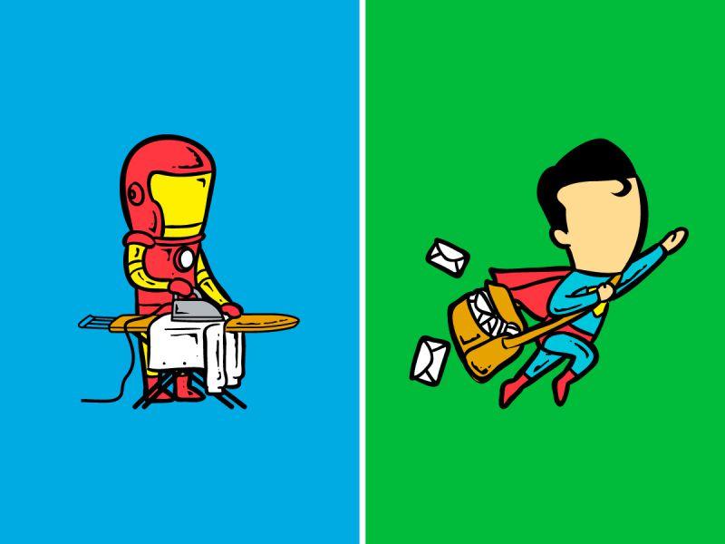 Если бы супергероям пришлось искать работу