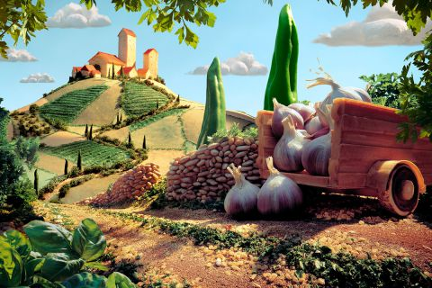 Сюрреалистические пейзажи из еды