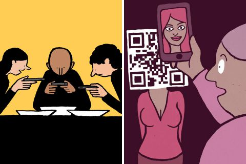 40 сатирических иллюстрации о современном обществе