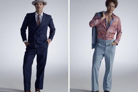 100 лет мужской моды за 2 минуты