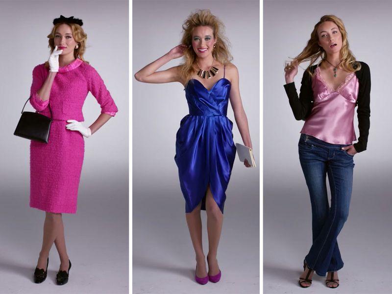 100 лет женской моды за 2 минуты