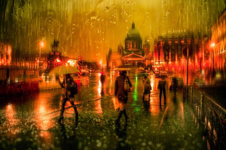 Романтика и мистика городов под дождём