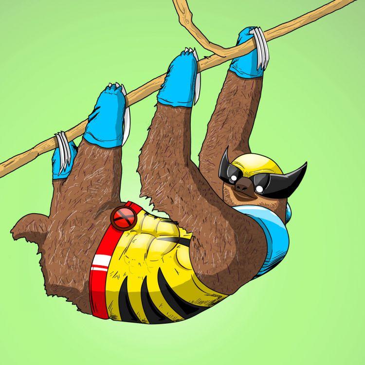 Иллюстрации животных в образе супергероев