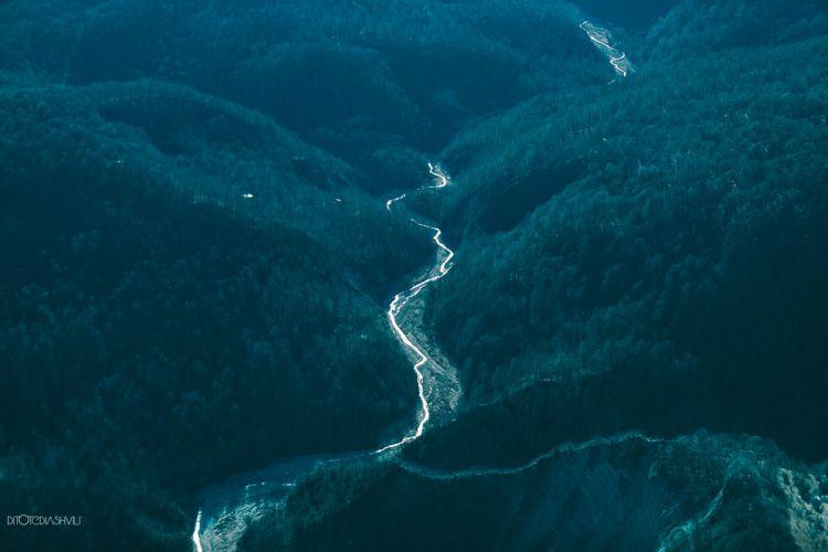 Живописная природа Грузии с высоты птичьего полёта