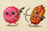 14 иллюстраций еды, которая вышла на тропу войны