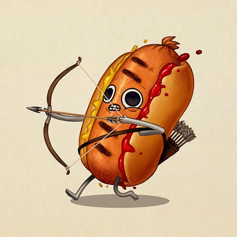 14 иллюстраций еды на тропе войны