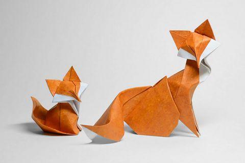 Очаровательные животные в технике мокрого оригами