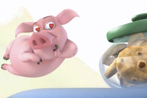Мультфильм об очаровательной свинке Орми