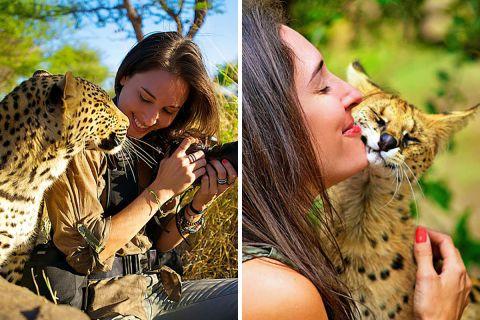 Рядом с ней дикие животные становятся ручными