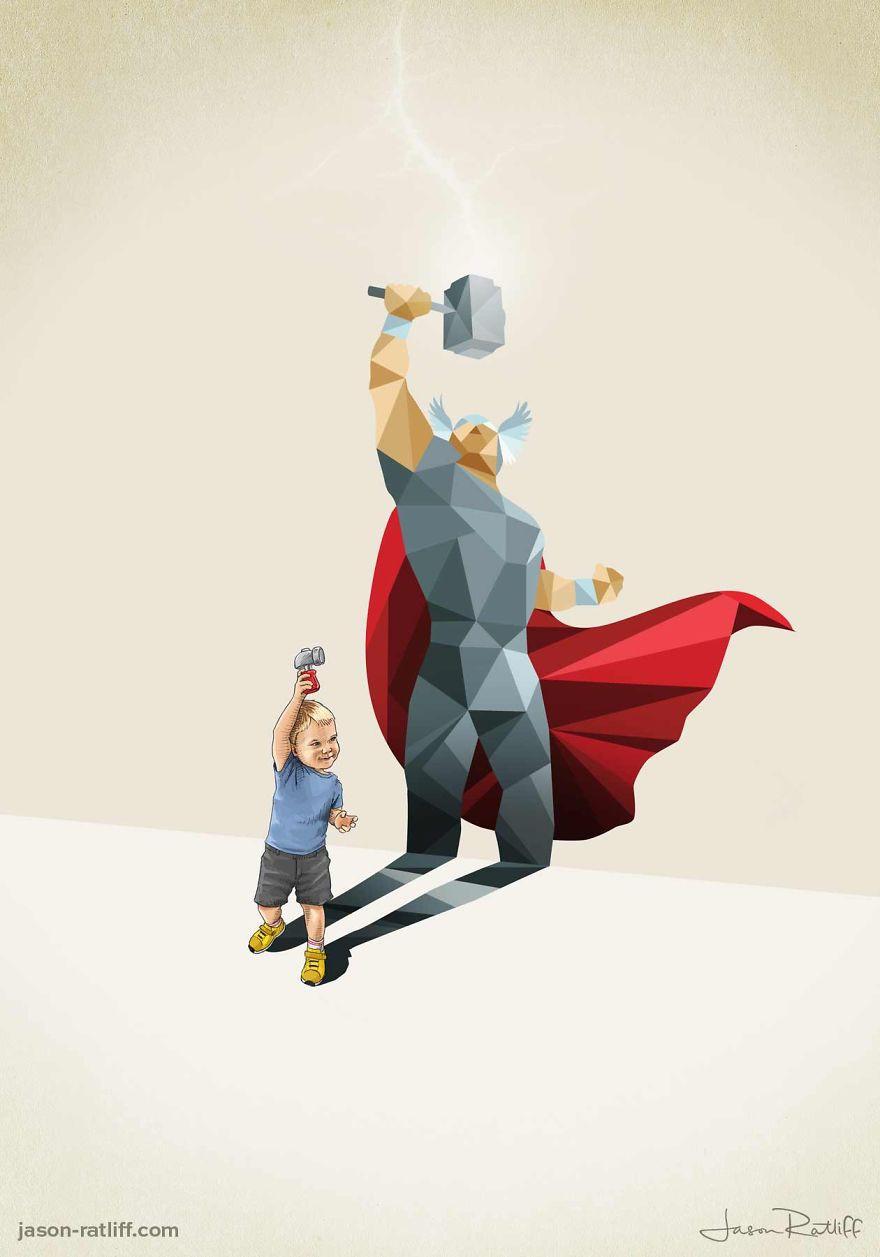 «Супертени» — иллюстрации о силе детского воображения