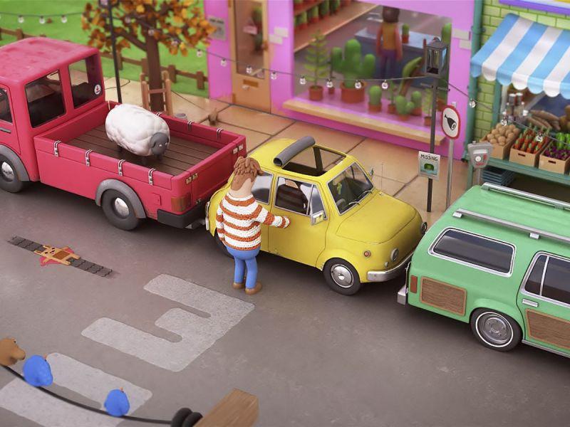 Мультфильм о трудностях параллельной парковки