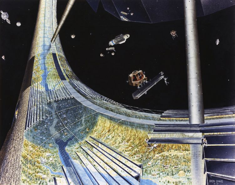 Космические колонии глазами художников 70-x